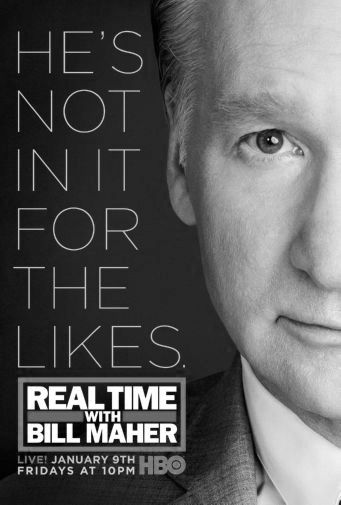 Real Time Bill Maher black and white poster