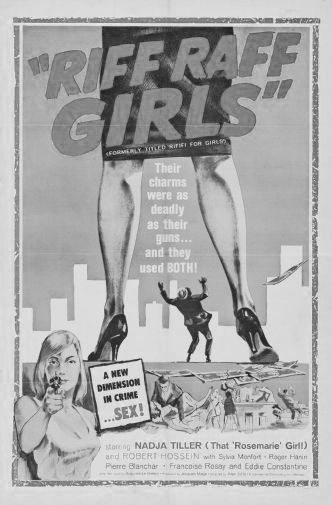 Riff Raff Girls black and white poster