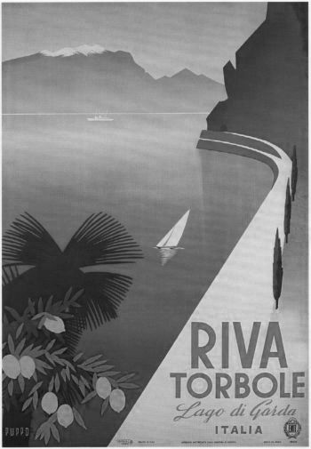 Italism Tourism black and white poster