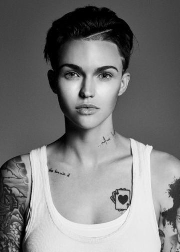 Ruby Rose black and white poster
