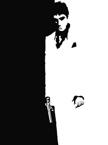 Scarface black and white poster