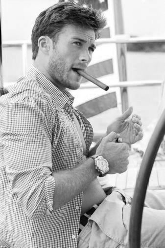 Scott Eastwood black and white poster