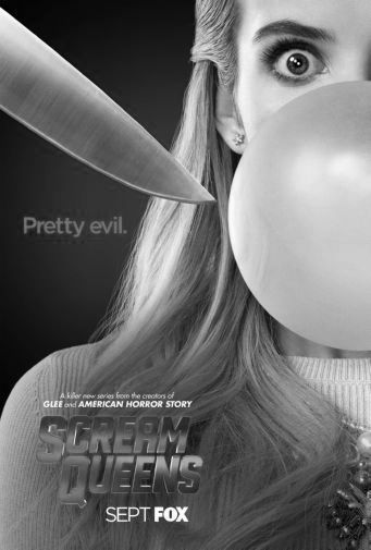 Scream Queens black and white poster