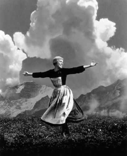 Sound Of Music black and white poster