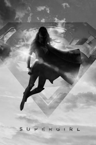 Supergirl black and white poster