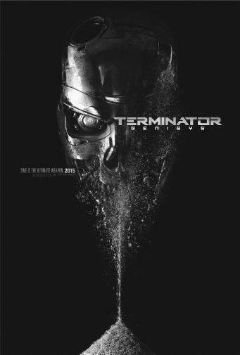 Terminator Genisys black and white poster
