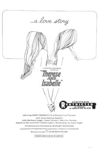 Therese And Isabelle black and white poster