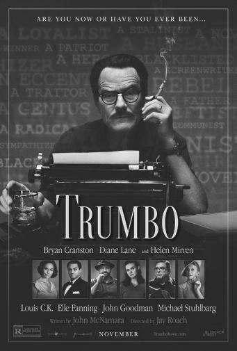 Trumbo black and white poster