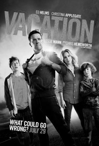 Vacation black and white poster