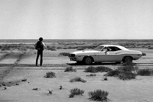 Vanishing Point black and white poster