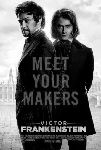 Victor Frankenstein black and white poster