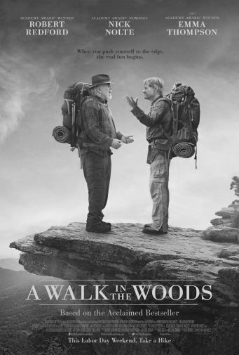 A Walk In The Woods black and white poster