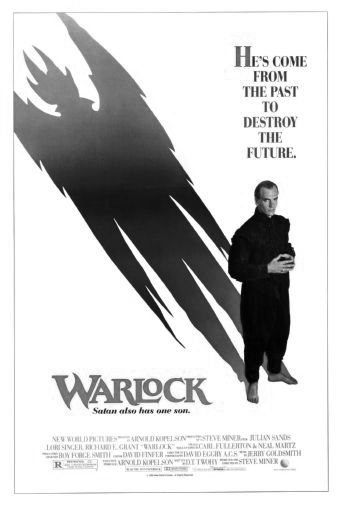 Warlock black and white poster