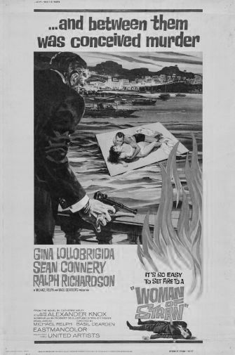 Woman Of Straw black and white poster