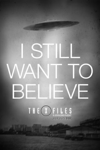 X-Files The black and white poster