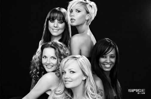 Spice girls black and white poster