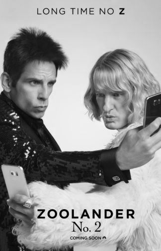 Zoolander 2 black and white poster