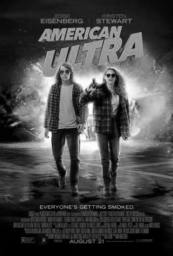 American Ultra black and white poster