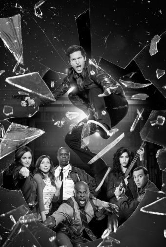 Brooklyn 99 black and white poster