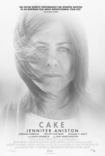 Cake black and white poster