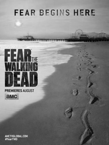 Fear The Walking Dead black and white poster