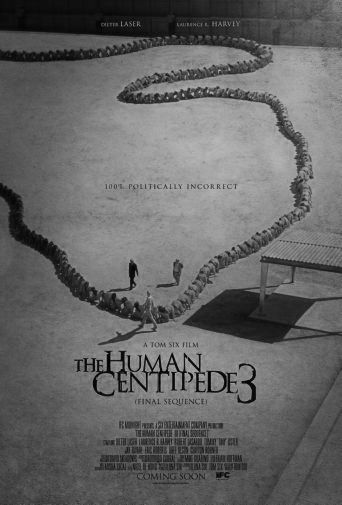 Human Centipede 3 black and white poster