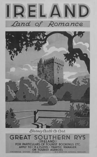Ireland Land Of Romance 1930 black and white poster