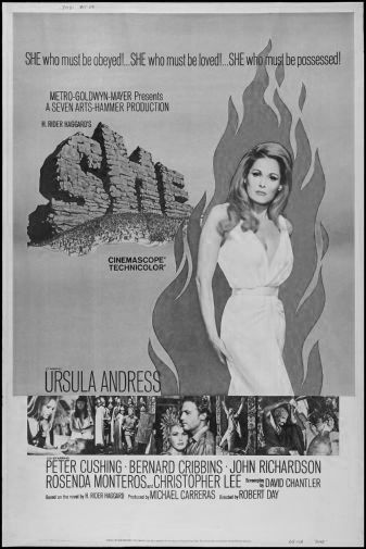 She black and white poster