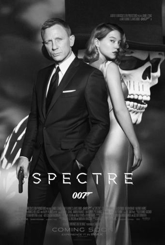 Spectre black and white poster