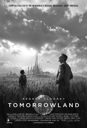 Tomorrowland black and white poster