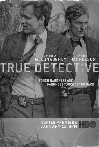 True Detective black and white poster