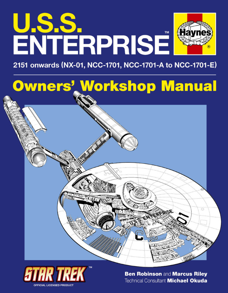 U.S.S. Enterprise Haynes Manual Poster