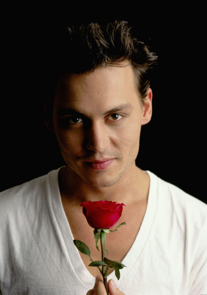 Johnny Depp Poster Rose