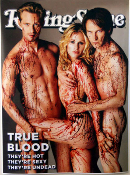 true blood rolling stone poster. featuring Rolling Stone Magazine Cover art with stars of True Blood in