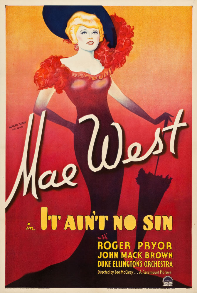 Mae West It Aint No Sin poster