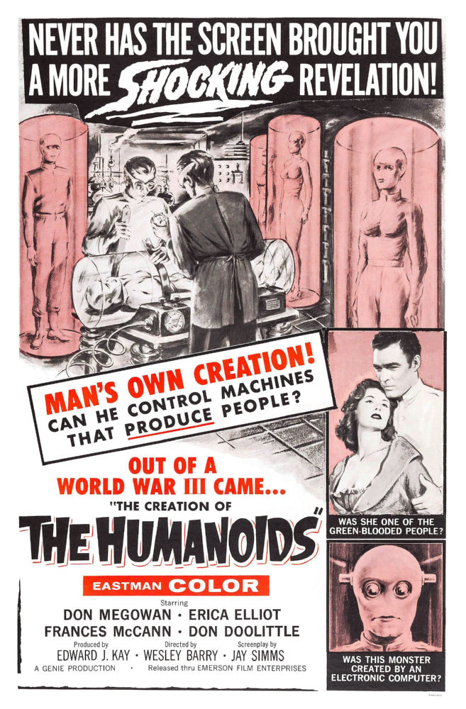 Creation Of Humanoids The poster