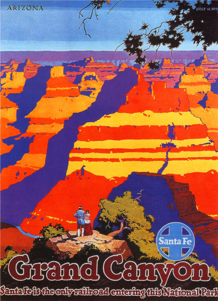 Railways Santa Fe Grand Canyon poster
