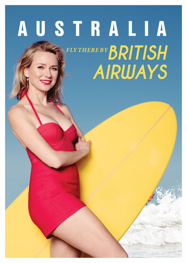 Australia Naomi Watts British Airways poster