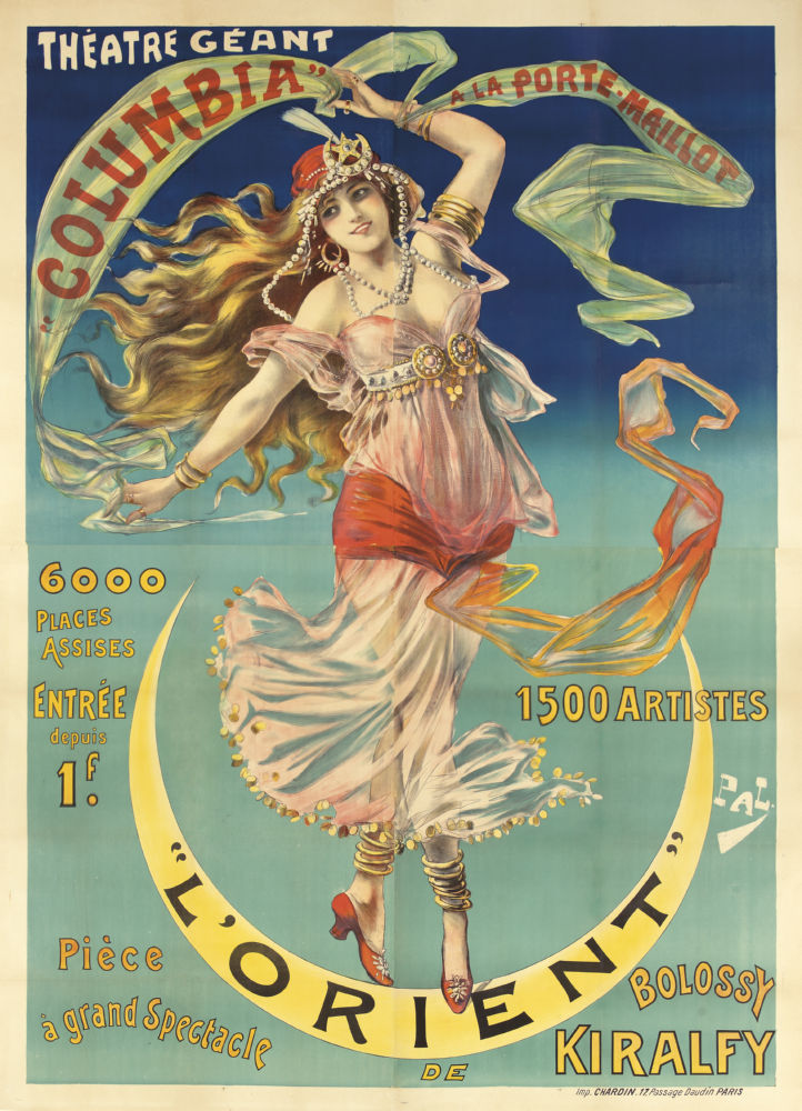 Vintage Showgirl Advertising poster