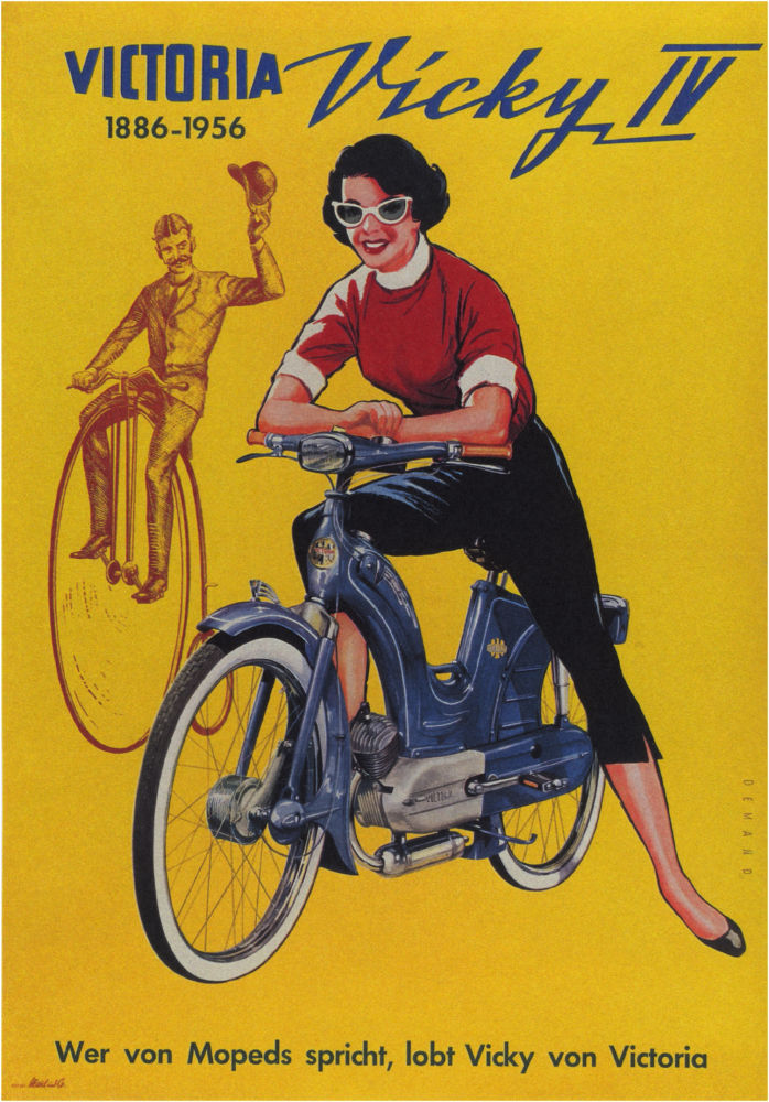 Vicky Motorcycle 1956 poster