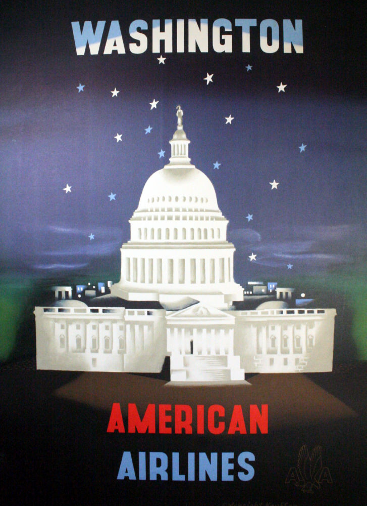 American Airlines Washington Dc poster