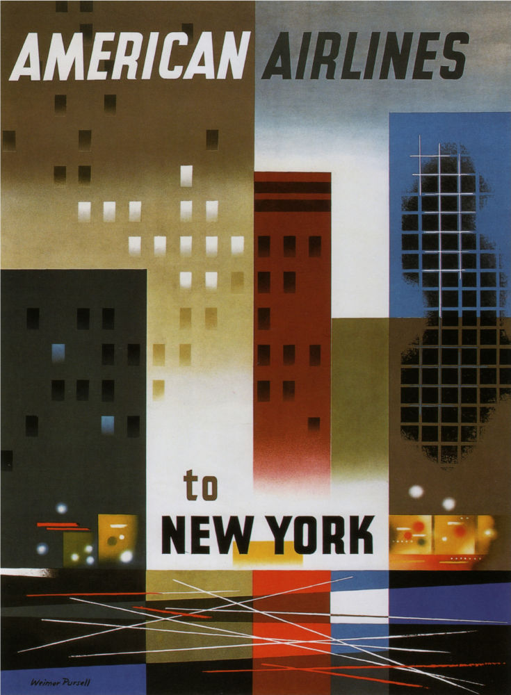 American Airlines New York poster