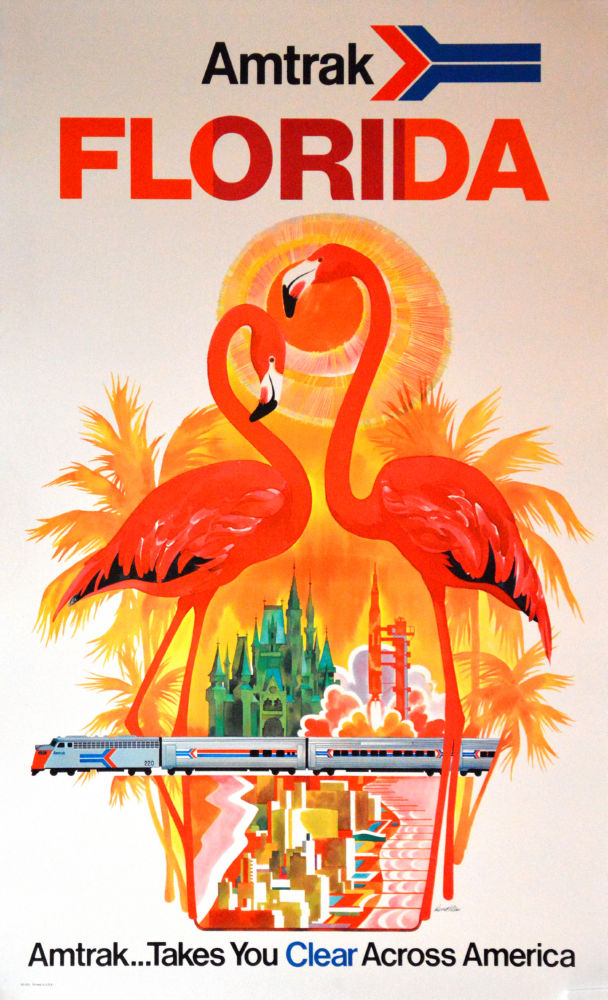 Florida Amtrak poster