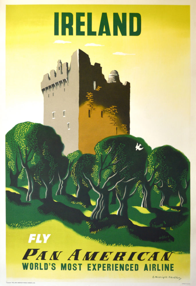Pan Am Airlines Ireland poster
