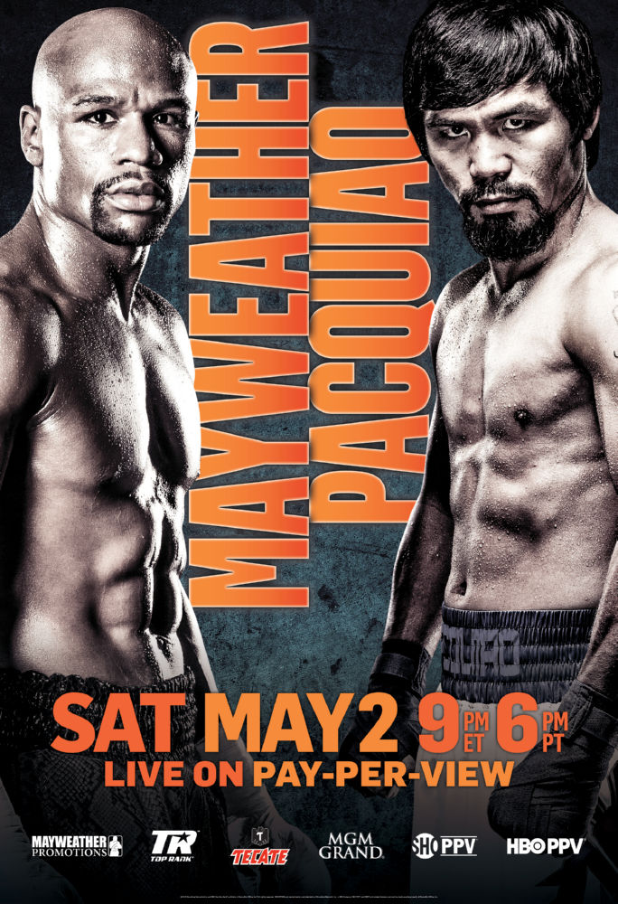 Mayweather Pacquiao poster